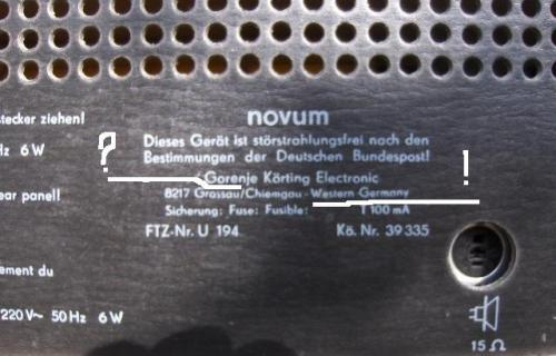 Novum Made in WG